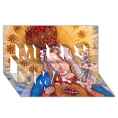 Immaculate Heart Of Virgin Mary Drawing Merry Xmas 3d Greeting Card (8x4)  by KentChua