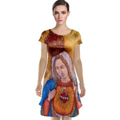Immaculate Heart Of Virgin Mary Drawing Cap Sleeve Nightdress