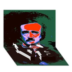Edgar Allan Poe Pop Art  Love Bottom 3d Greeting Card (7x5)  by icarusismartdesigns