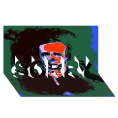 Edgar Allan Poe Pop Art  Sorry 3d Greeting Card (8x4)  by icarusismartdesigns
