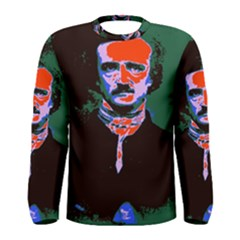Edgar Allan Poe Pop Art  Men s Long Sleeve Tee by icarusismartdesigns