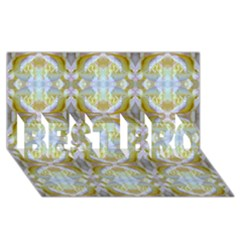 Beautiful White Yellow Rose Pattern Best Bro 3d Greeting Card (8x4)  by Costasonlineshop