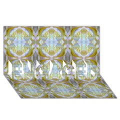 Beautiful White Yellow Rose Pattern Engaged 3d Greeting Card (8x4)  by Costasonlineshop
