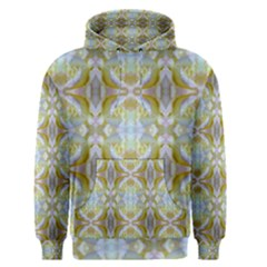 Beautiful White Yellow Rose Pattern Men s Pullover Hoodie by Costasonlineshop