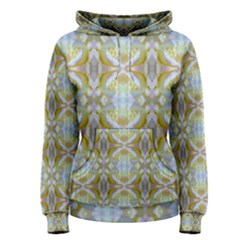 Beautiful White Yellow Rose Pattern Women s Pullover Hoodie by Costasonlineshop