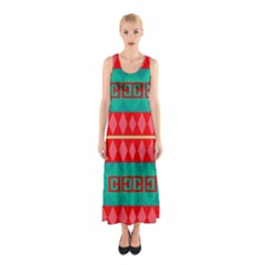 Rhombus Stripes And Other Shapes Full Print Maxi Dress by LalyLauraFLM