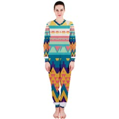 Pastel Tribal Design Onepiece Jumpsuit (ladies) by LalyLauraFLM