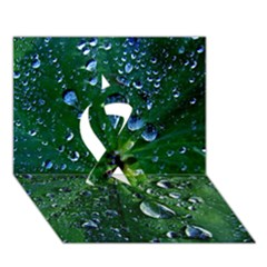 Morning Dew Ribbon 3d Greeting Card (7x5)  by Costasonlineshop