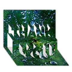 Morning Dew Thank You 3d Greeting Card (7x5)  by Costasonlineshop