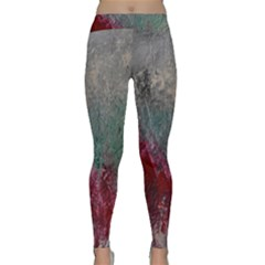 Metallic Abstract 1 Yoga Leggings by timelessartoncanvas