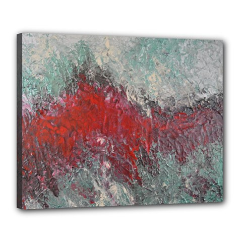 Metallic Abstract 2 Canvas 20  X 16  by timelessartoncanvas