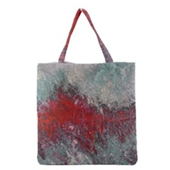 Metallic Abstract 2 Grocery Tote Bags by timelessartoncanvas
