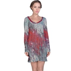 Metallic Abstract 2 Long Sleeve Nightdress by timelessartoncanvas