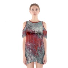 Metallic Abstract 2 Cutout Shoulder Dress by timelessartoncanvas