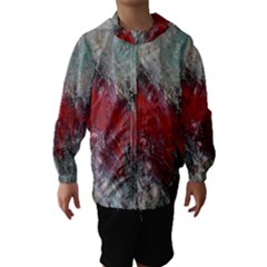 Metallic Abstract 2 Hooded Wind Breaker (kids) by timelessartoncanvas