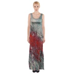 Metallic Abstract 2 Maxi Thigh Split Dress by timelessartoncanvas