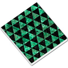 Triangle3 Black Marble & Green Marble Small Memo Pads by trendistuff