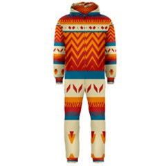 Tribal Shapes  Hooded Jumpsuit (men) by LalyLauraFLM