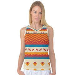 Tribal Shapes  Women s Basketball Tank Top