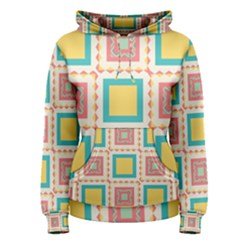 Pastel Squares Pattern Women s Pullover Hoodie by LalyLauraFLM