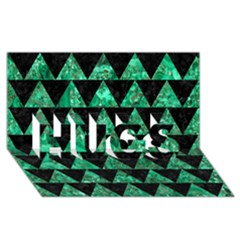 Triangle2 Black Marble & Green Marble Hugs 3d Greeting Card (8x4) by trendistuff