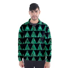 Triangle2 Black Marble & Green Marble Wind Breaker (men) by trendistuff
