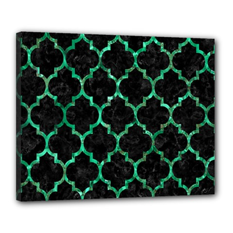 Tile1 Black Marble & Green Marble (r) Canvas 20  X 16  (stretched) by trendistuff