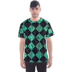 Square2 Black Marble & Green Marble Men s Sports Mesh Tee by trendistuff