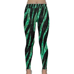 Skin3 Black Marble & Green Marble (r) Classic Yoga Leggings by trendistuff
