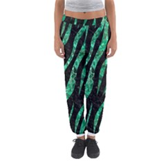 Skin3 Black Marble & Green Marble (r) Women s Jogger Sweatpants