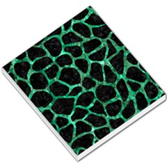 Skin1 Black Marble & Green Marble Small Memo Pads by trendistuff