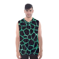 Skin1 Black Marble & Green Marble Men s Basketball Tank Top