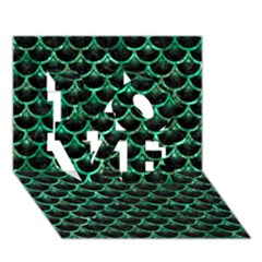 Scales3 Black Marble & Green Marble (r) Love 3d Greeting Card (7x5) by trendistuff