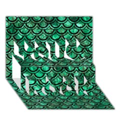Scales2 Black Marble & Green Marble You Rock 3d Greeting Card (7x5) by trendistuff