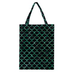 Scales1 Black Marble & Green Marble (r) Classic Tote Bag