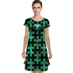 Puzzle1 Black Marble & Green Marble Cap Sleeve Nightdress