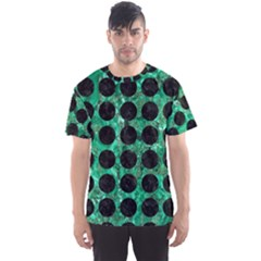 Circles1 Black Marble & Green Marble Men s Sports Mesh Tee by trendistuff