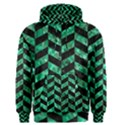 CHEVRON1 BLACK MARBLE & GREEN MARBLE Men s Pullover Hoodie View1