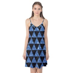 Triangle3 Black Marble & Blue Marble Camis Nightgown  by trendistuff