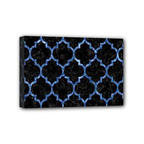 Tile1 Black Marble & Blue Marble (r) Mini Canvas 6  X 4  (stretched) by trendistuff