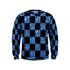 Square1 Black Marble & Blue Marble Kids  Sweatshirt