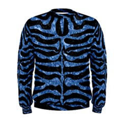 Skin2 Black Marble & Blue Marble (r) Men s Sweatshirt