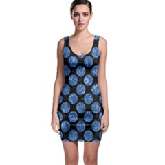 Circles2 Black Marble & Blue Marble (r) Bodycon Dress by trendistuff