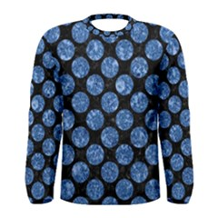 Circles2 Black Marble & Blue Marble (r) Men s Long Sleeve Tee by trendistuff