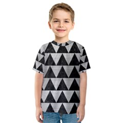 Triangle2 Black Marble & Silver Brushed Metal Kids  Sport Mesh Tee by trendistuff