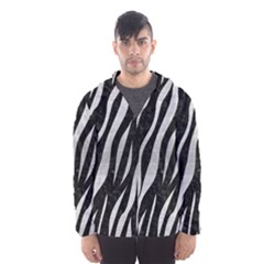 Skin3 Black Marble & Silver Brushed Metal Hooded Wind Breaker (men)
