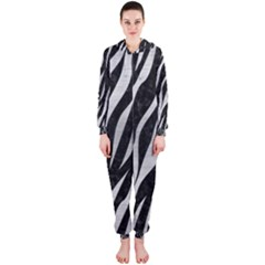 Skin3 Black Marble & Silver Brushed Metal Hooded Jumpsuit (ladies) by trendistuff