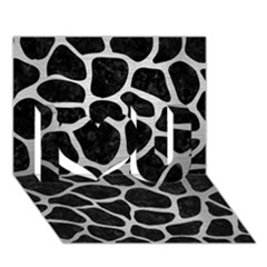 Skin1 Black Marble & Silver Brushed Metal (r) I Love You 3d Greeting Card (7x5) by trendistuff
