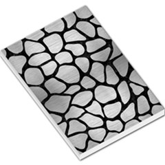 Skin1 Black Marble & Silver Brushed Metal Large Memo Pads by trendistuff