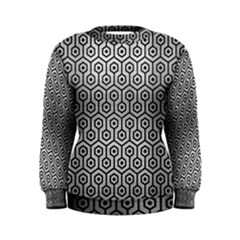 Hexagon1 Black Marble & Silver Brushed Metal (r) Women s Sweatshirt by trendistuff